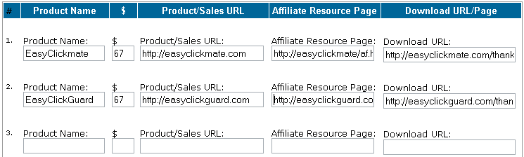 adding products in easyClickmate
